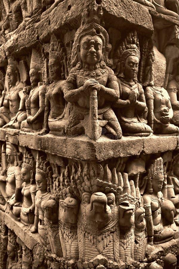 Download Bas relief in Angkor Vat stock image. Image of unesco - 10142079