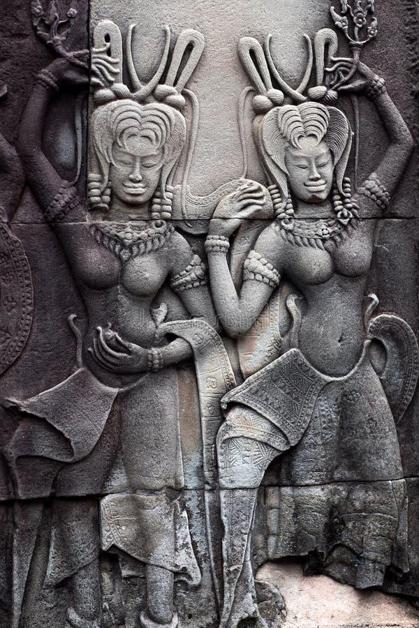 Free Bas-relief At Angkor Wat, Cambodia Stock Photography - 62555622