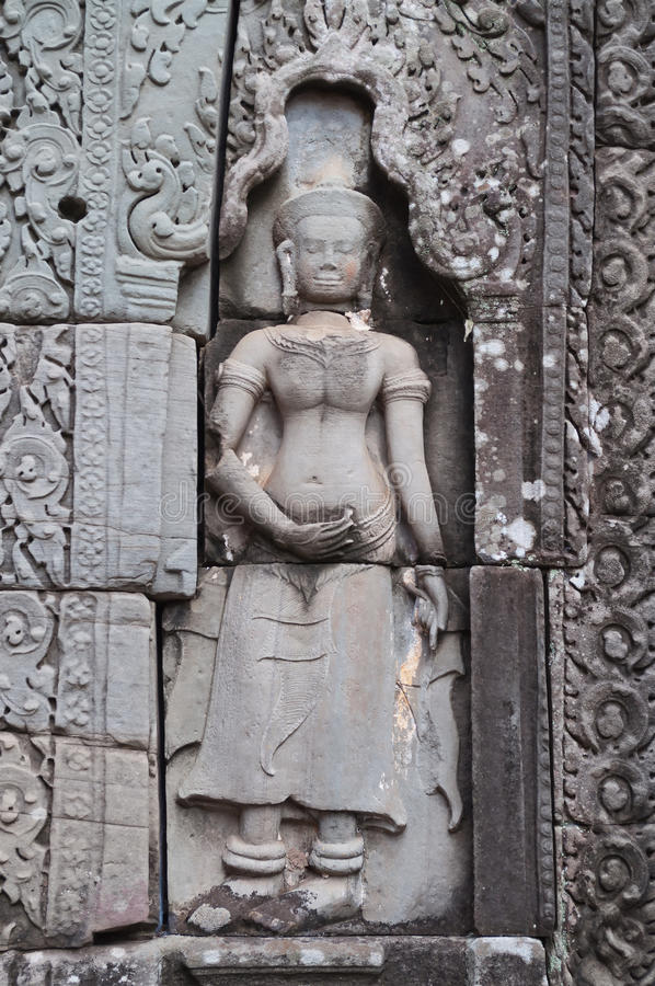 Download Bas-relief Of Banteay Kdei Temple.Angkor. Siem Reap. Cambodia Stock Photos - Image: 33774563