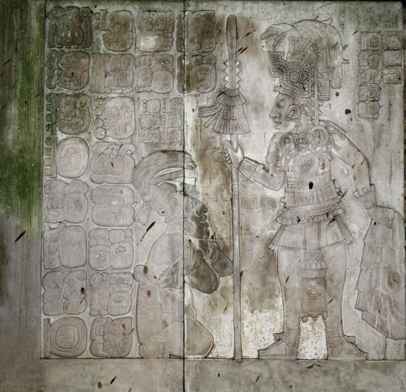 Free Bas-relief Carving With Of A Mayan King, Palenque, Chiapas, Mexico Royalty Free Stock Images - 95427879