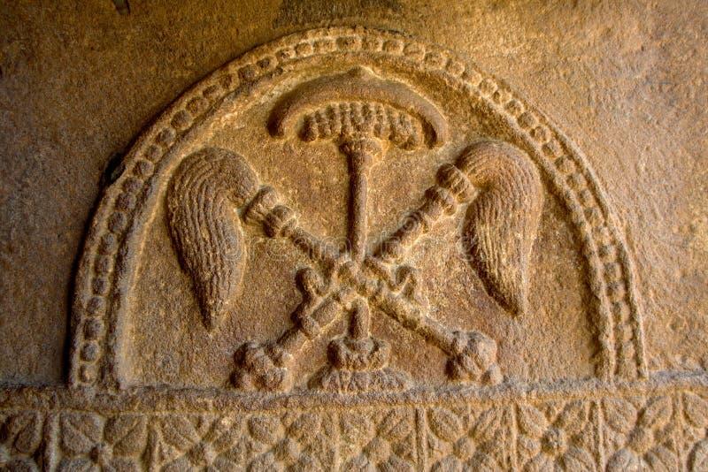 Bas Relief de Chatra y de Chamaras fotografía de archivo