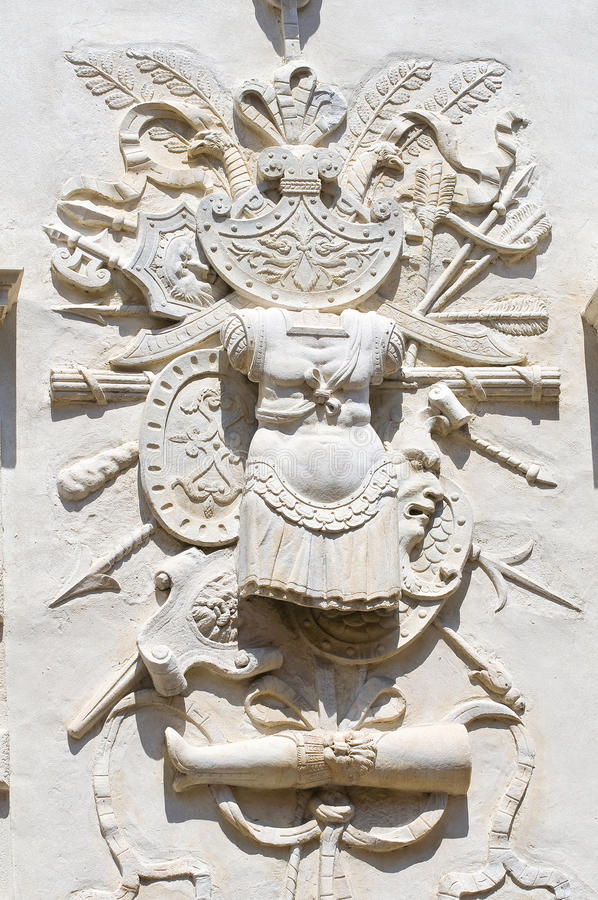 Bas-relief de marbre. images stock