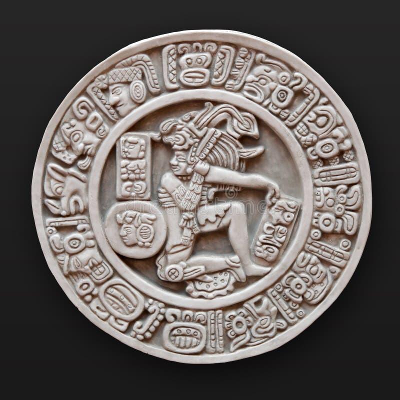 Bas-relief en pierre Amérique latine ronde images stock