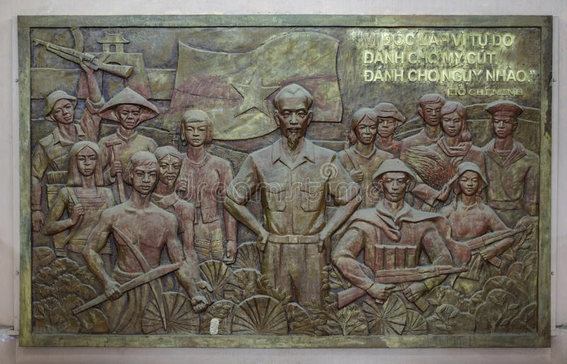 Download Bas-relief Of Ho Chi Minh With Troops And Workers. Editorial Stock Image - Image: 42152609