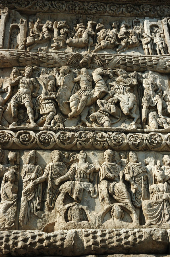 Free Bas-relief Of Galerius Arch,Thessaloniki,Greece Stock Photo - 18049180