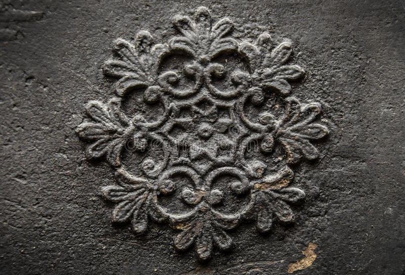 Bas-Relief. Of a tracery on a wall royalty free stock image