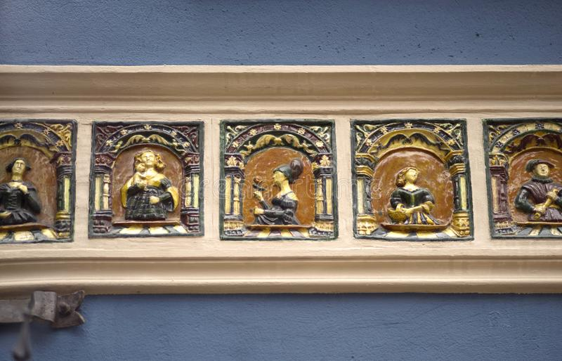 Bas-reliefs en pierre de Danzig images libres de droits