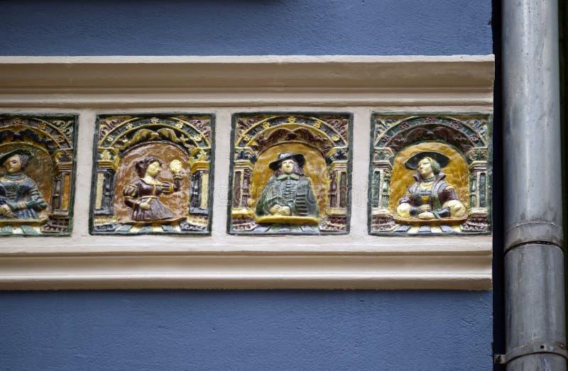 Bas-reliefs en pierre de Danzig photo stock
