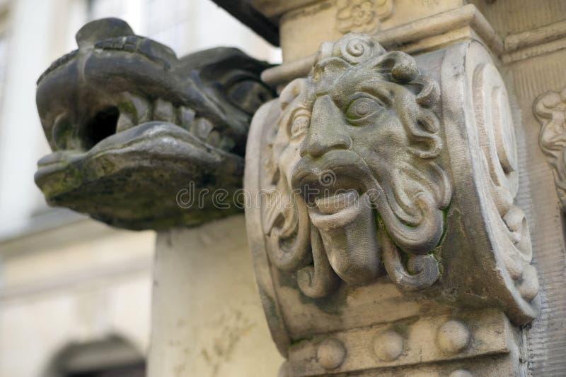 Bas-reliefs en pierre de Danzig photographie stock libre de droits