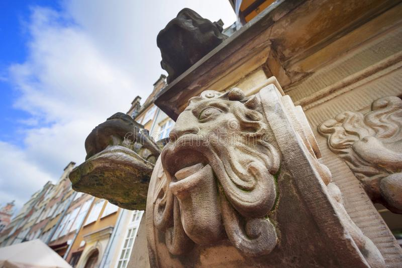 Bas-reliefs en pierre de Danzig photo libre de droits