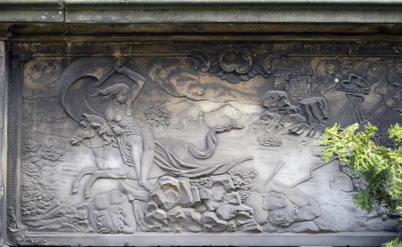 Bas-reliefs en pierre de Danzig image libre de droits