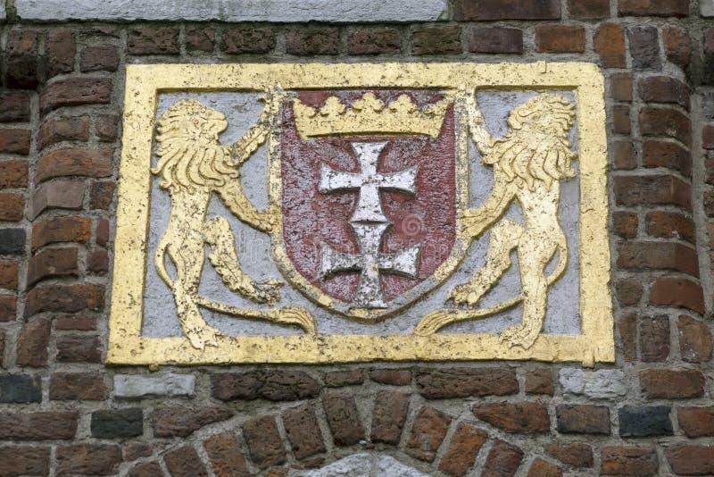 Bas-reliefs en pierre de Danzig images stock