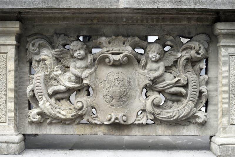 Bas-reliefs en pierre de Danzig photos libres de droits