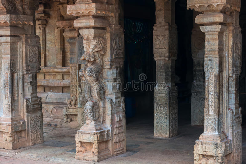 Bas-reliefs at an entrance to the Brihadishvara Temple, Tanjavur. South India royalty free stock photography