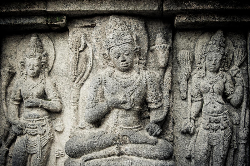 Download Bas-reliefs Of Prambanan Temple, Java, Indonesia Stock Image - Image: 17398329