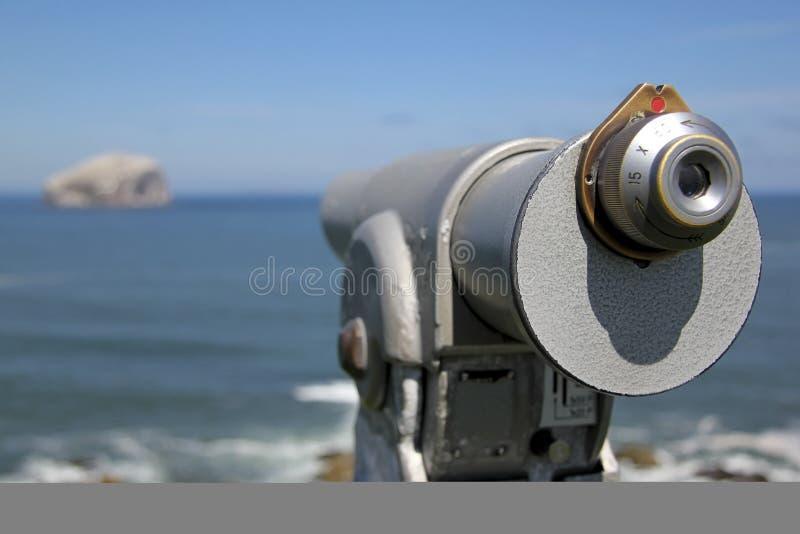 Bas rotstelescoop stock foto