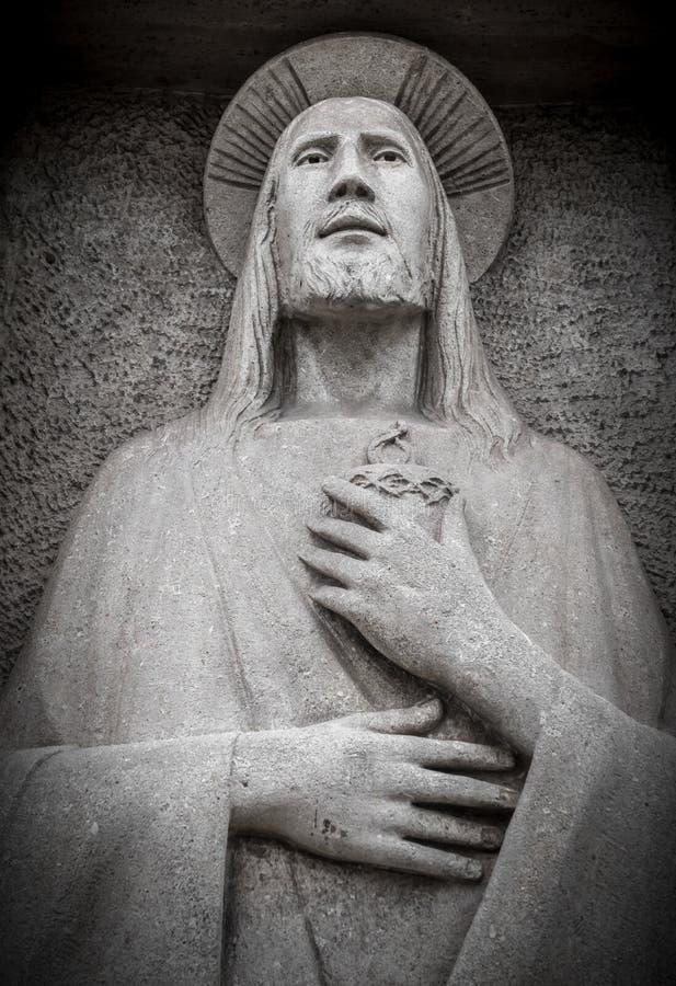 Bas soulagement dans la pierre de Jesus Christ image libre de droits