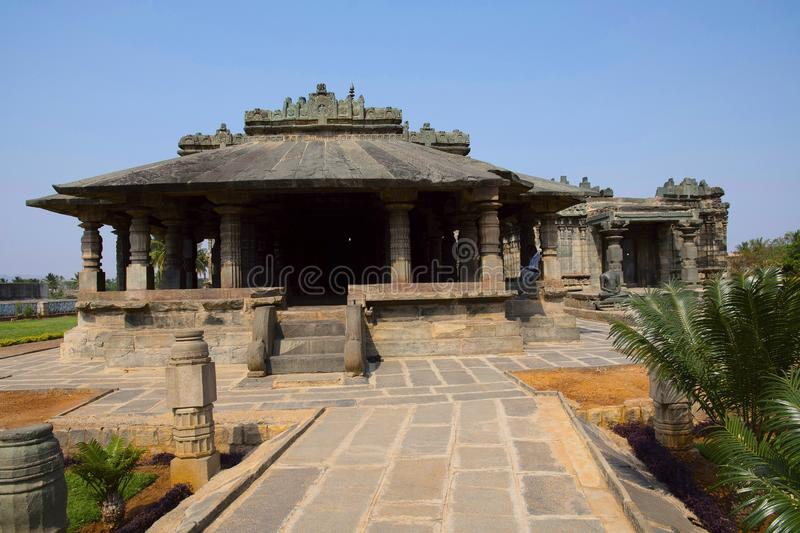 BASADI, one of the earliest examples of temples Lakkundi in Gadag District of Karnataka. This Basadi is perhaps one of the earliest examples of temples in this royalty free stock photography