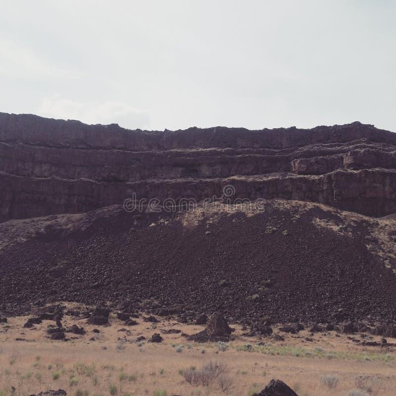 Basalt cliffs stock photography