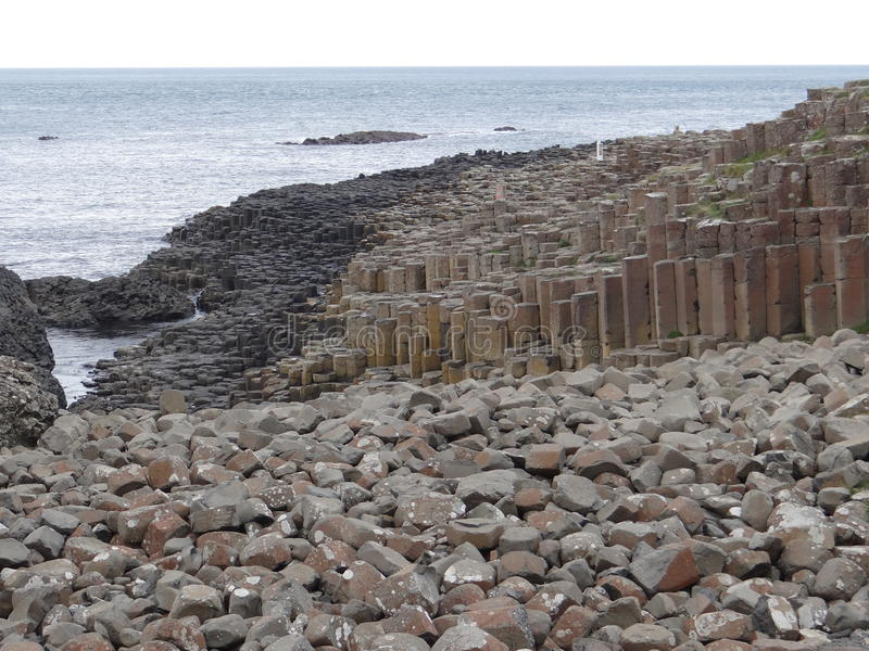 Basalt Columns Giants Causeway stock photos