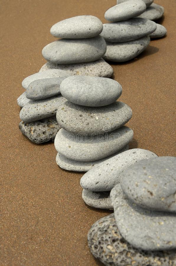 Basalt Stones on Beach stock photography