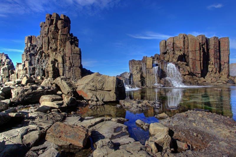 Basalt walls and columns royalty free stock photo