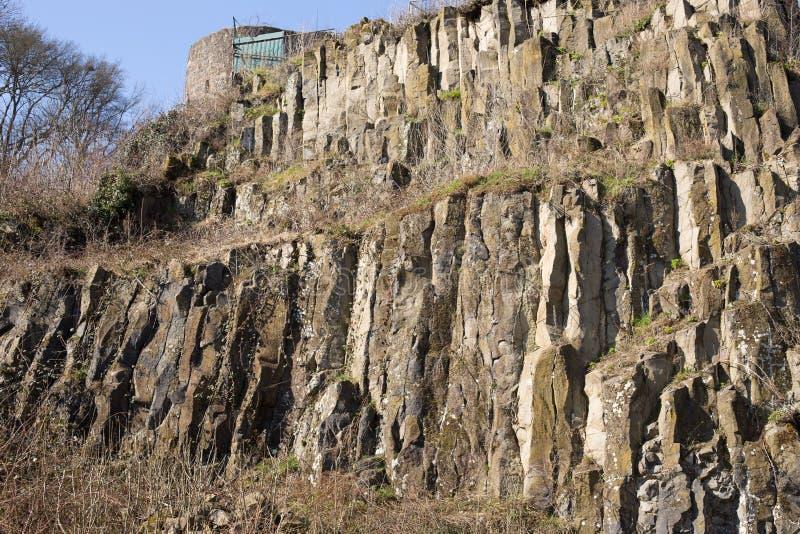 Basaltet vaggar royaltyfria foton