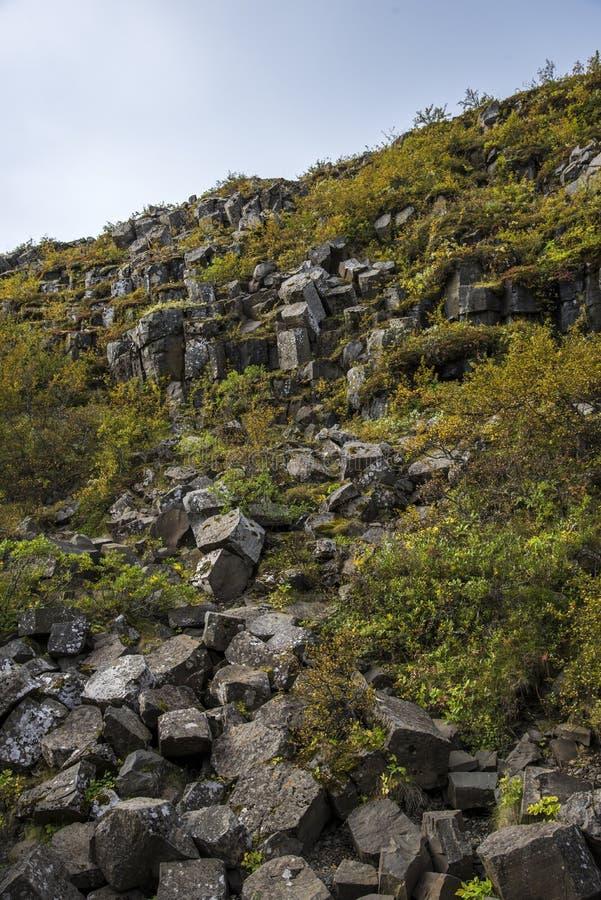 Basaltet vaggar, Vik royaltyfri fotografi
