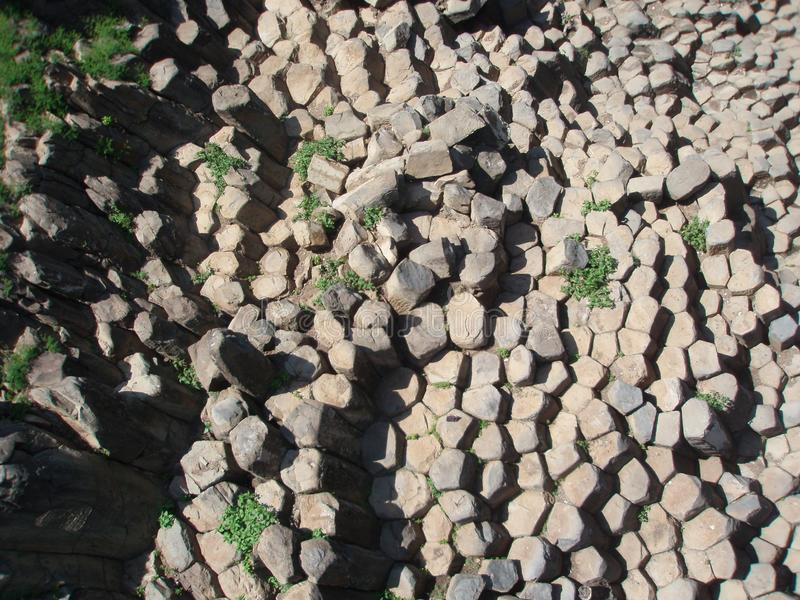 Basaltic prisms of Santa María Regla, Mexico. royalty free stock photo