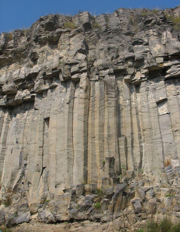 basaltic vägg royaltyfri bild