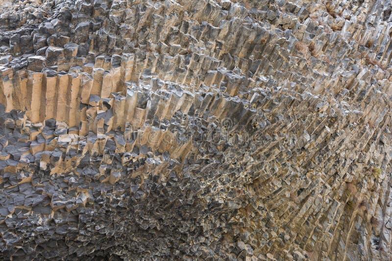 Basaltkolommen als Symfonie van de Stenen, in de Vallei van Garni, Armenië worden bekend dat royalty-vrije stock afbeelding