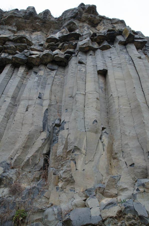 Basaltkolonner arkivfoto
