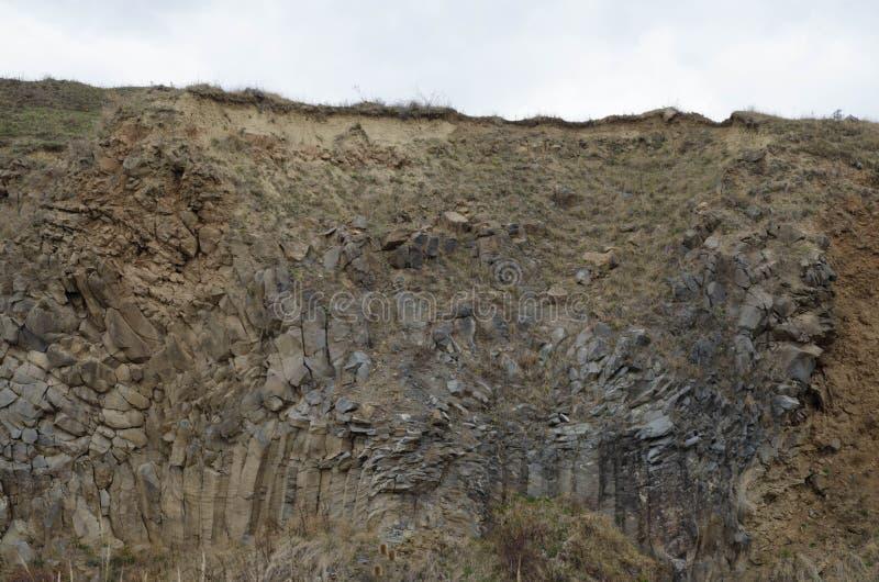 Basaltkolonnlandskap X arkivfoto