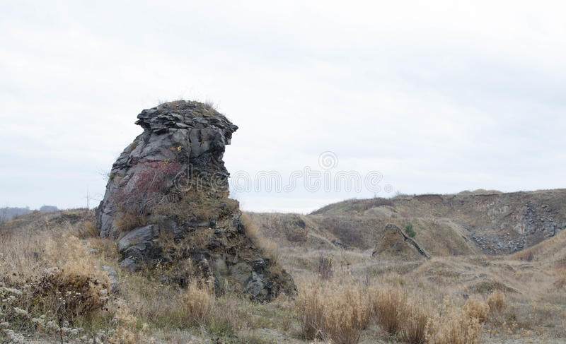 Basaltkolonnlandskap XV arkivfoto