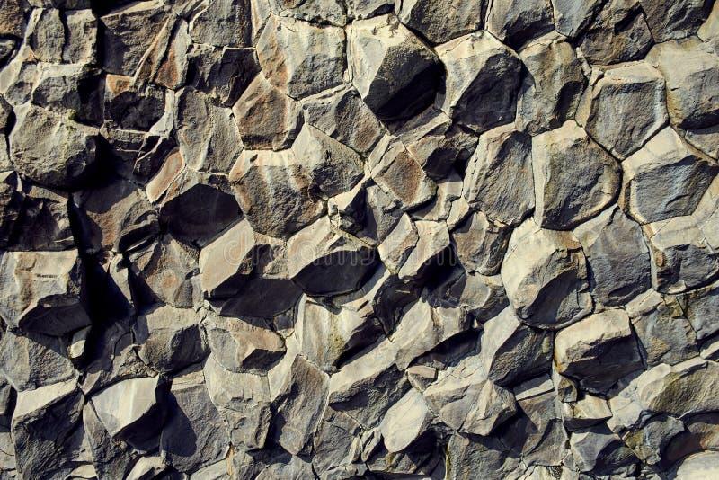 Basaltstenkolonner royaltyfria foton