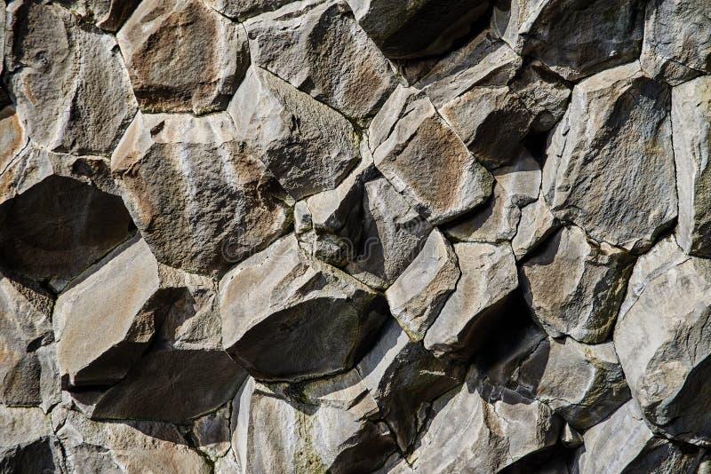 Basaltstenkolonner arkivfoton