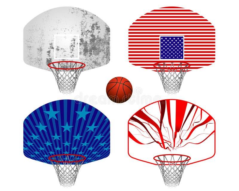 Basamenti di pallacanestro illustrazione vettoriale