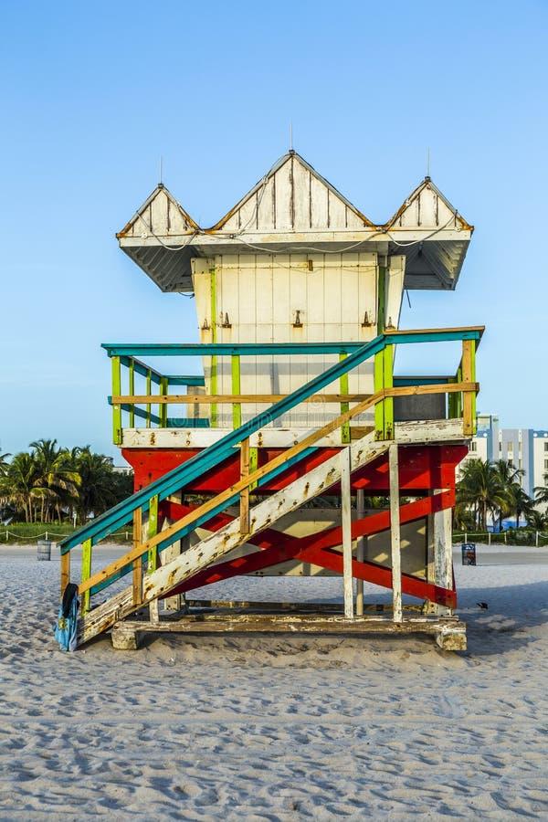 Basamento del bagnino a Miami fotografie stock libere da diritti
