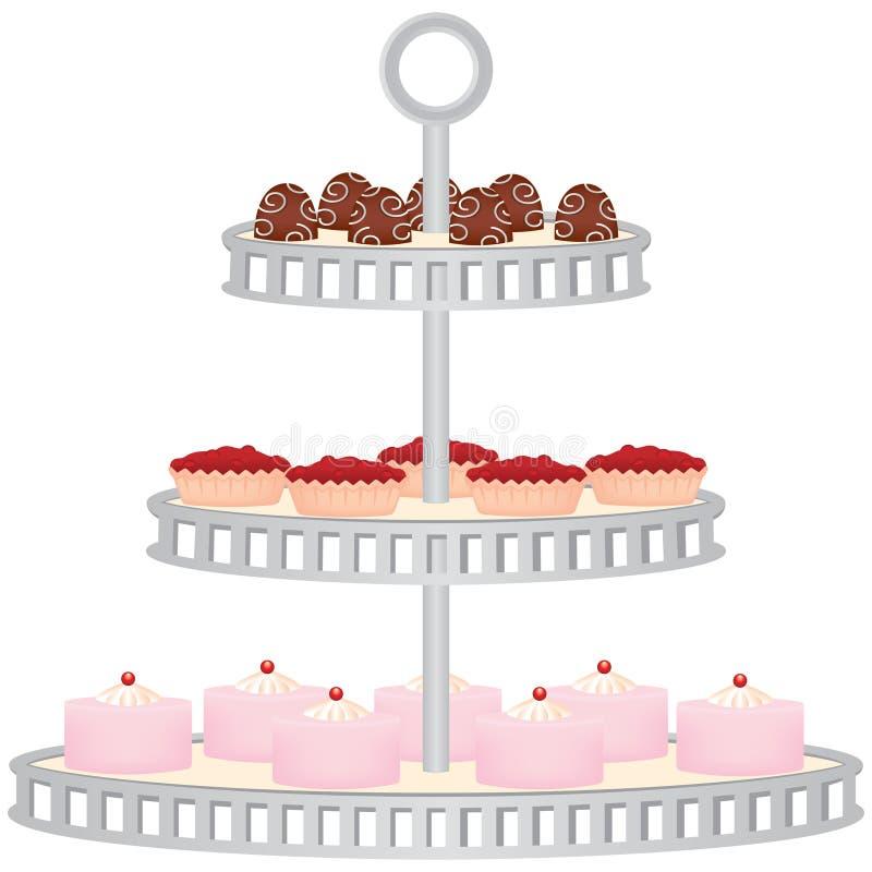 Basamento del dessert illustrazione vettoriale