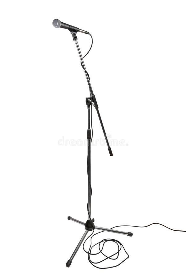 Basamento del microfono fotografie stock