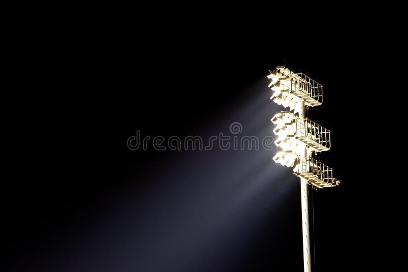 Basamento dell'indicatore luminoso dello stadio fotografia stock