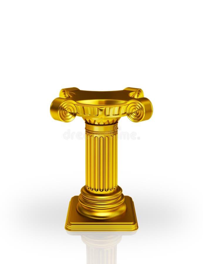 Basamento ionico dorato royalty illustrazione gratis