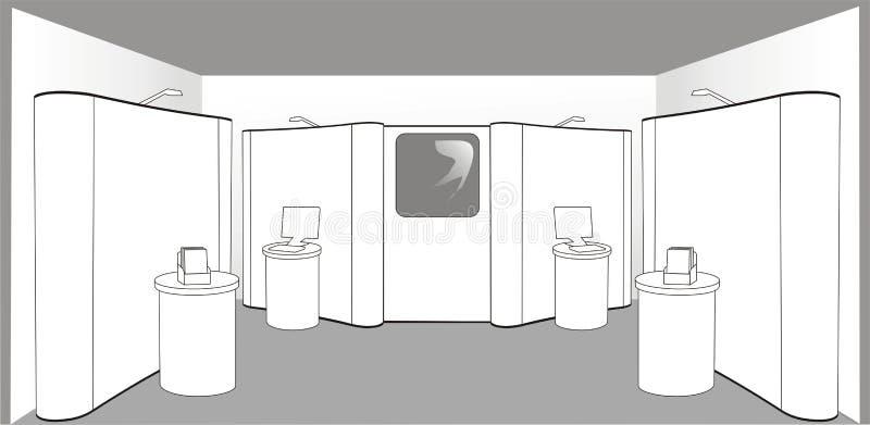 Basamento vuoto di mostra royalty illustrazione gratis