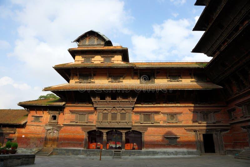 Basantapur för nio våning torn i den nasala Chowk borggården arkivbilder