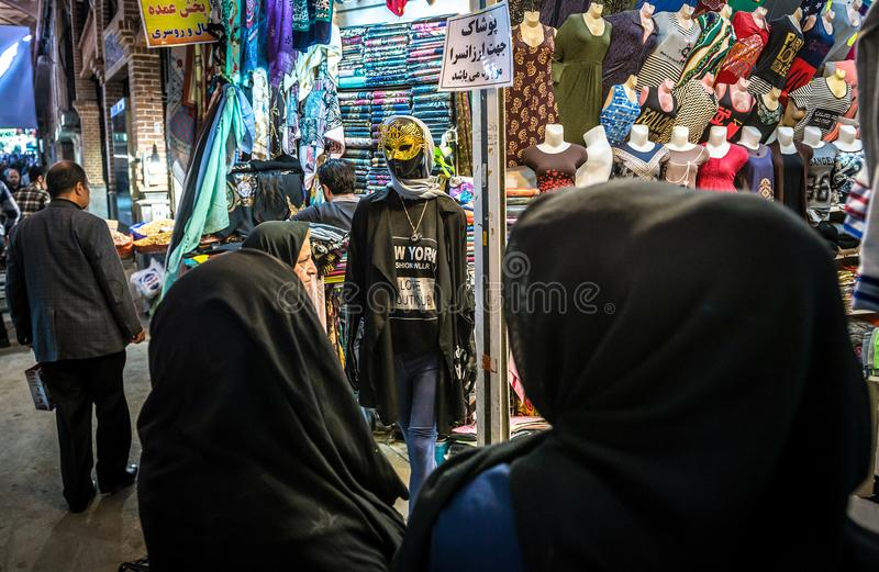 Basar i Teheran arkivfoton
