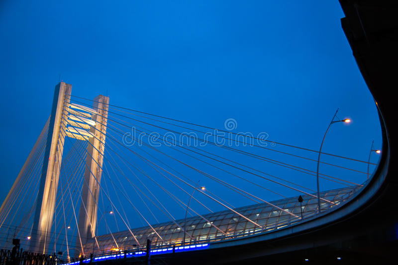 Basarab Bridge, Bucharest royalty free stock images