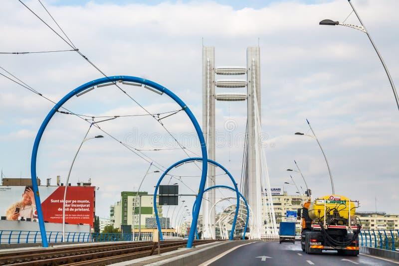 Basarab bro fotografering för bildbyråer