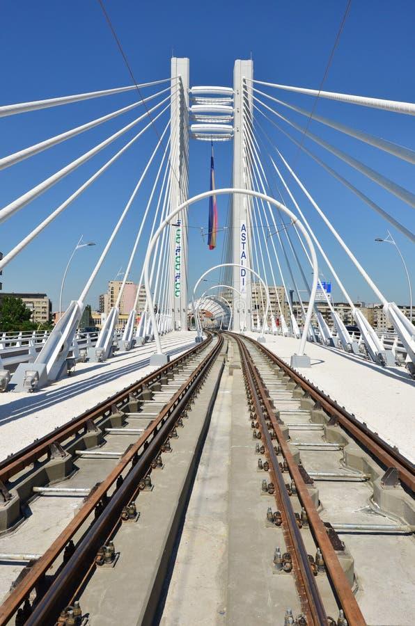 Basarab zawieszenia most, Bucharest zdjęcia stock
