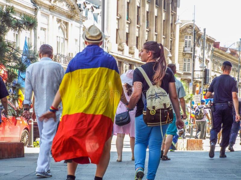 Basarabia och Rumänien marsch för unification_ royaltyfri fotografi