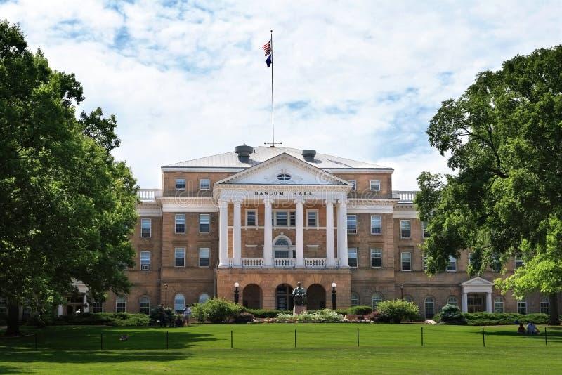 bascom大厅大学威斯康辛 免版税库存照片